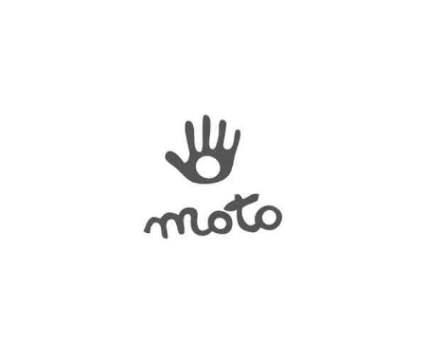 50年の歴史を持ったレザー&シルバーブランド【MOTO(モト)】-ロゴのみのバナーデザイン