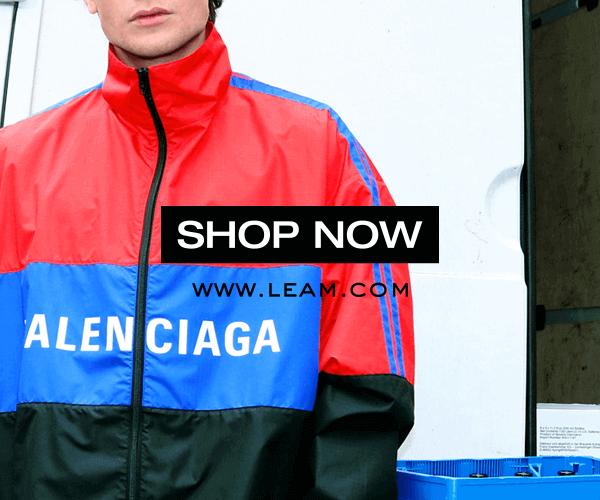 【LEAM】Balenciaga,OFFWHITE等ブランド商品オンラインストアのバナーデザイン