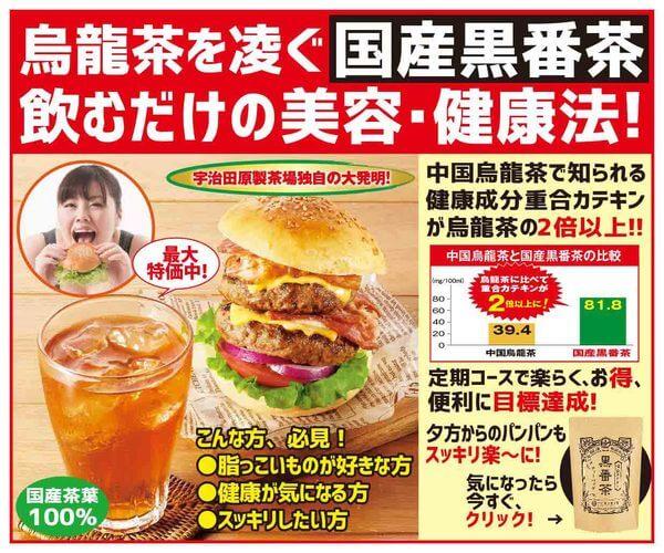 定期コース 初回特別キャンペーン【国産黒番茶】のバナーデザイン