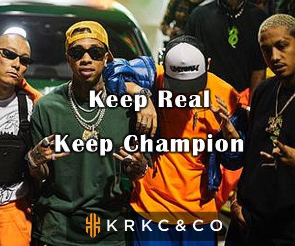 ヒップホップアクセサリー専門ブランド【KRKC&CO】KEEP CHAMPIONのバナーデザイン