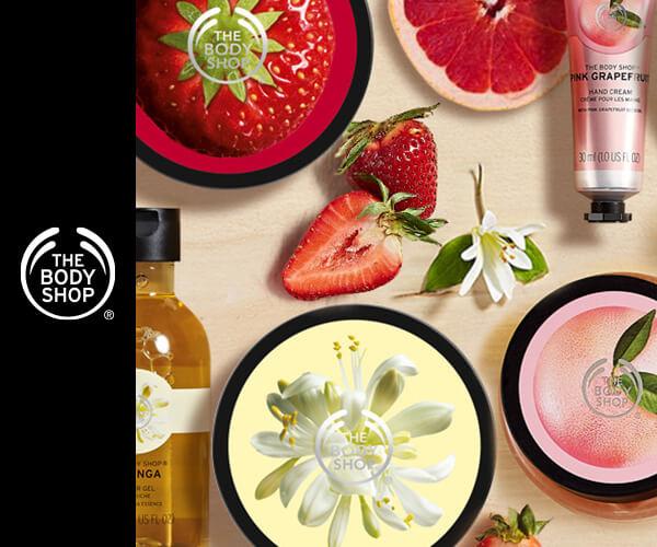 イギリスの自然派化粧品ブランド【THE BODY SHOP】のバナーデザイン