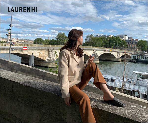 シンプルオシャレ洋服の定番、韓国激安人気通販【LAURENHI】のバナーデザイン
