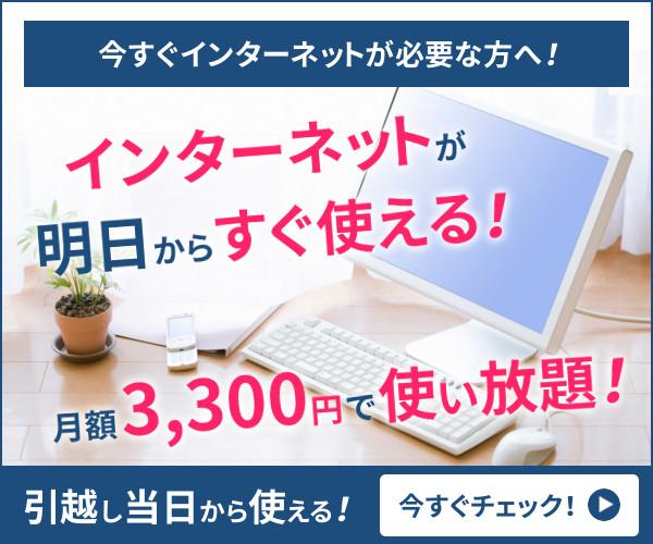 申込から最短1日で使える!【インターネット最短便】のバナーデザイン