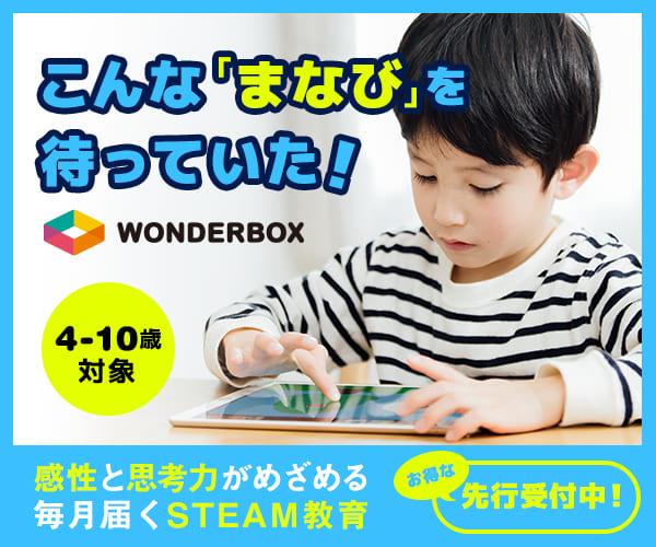 WonderBox|STEAM教育領域の新しい通信教育のバナーデザイン