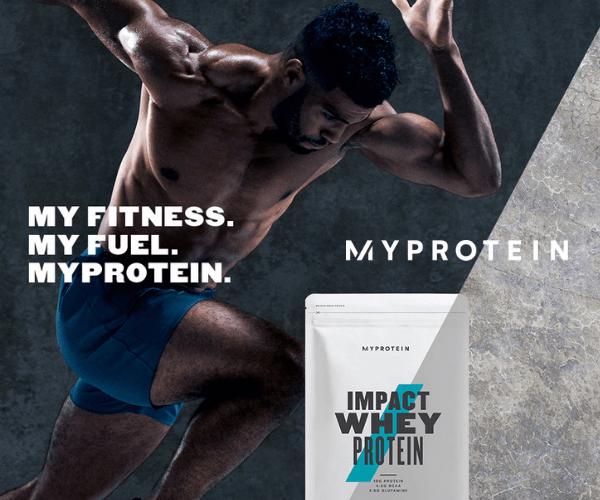 イギリス発の世界で大流行スポーツ栄養ブランド【Myprotein】のバナーデザイン
