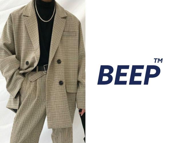 周りと差がつくトレンドスタイルを提案!ユニセックスブランド 【BEEP】のバナーデザイン